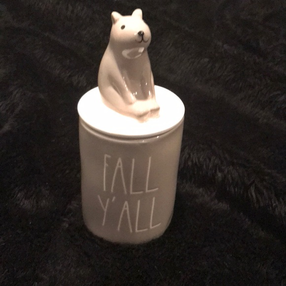 🐿 Rae Dunn Fall  FALL Y'ALL scented candle w/top 🍁